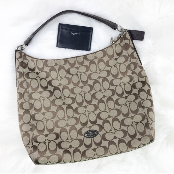 d5ba7f643f Coach Handbags - Coach Hobo Monogram Shoulder Bag Purse Wallet